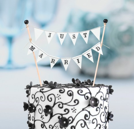 Just Married Cake Buntingwholesale/WF244_______.L.jpg Wedding Supplies