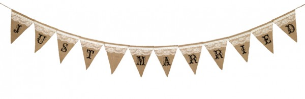 Just Married Burlap Banner200  Weddings