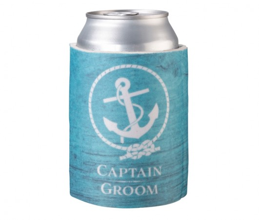 Captain Groom Cup Cozy  Weddings