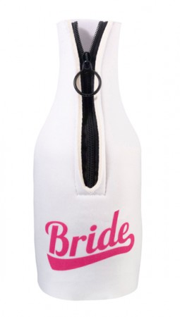 Bride Bottle Cover - White/Pink200  Weddings