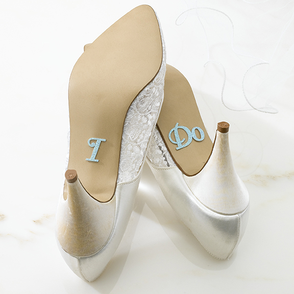 I Do Bride Shoe Stickers  Weddings