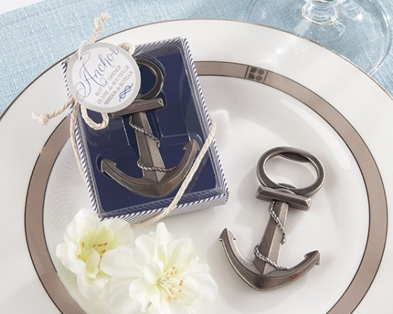 Anchor Nautical-Themed Bottle Opener Weddings
