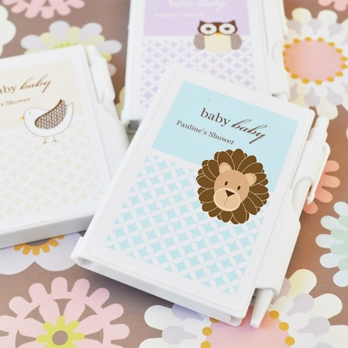 Baby Animal Notebook Shower Favors baby shower favors