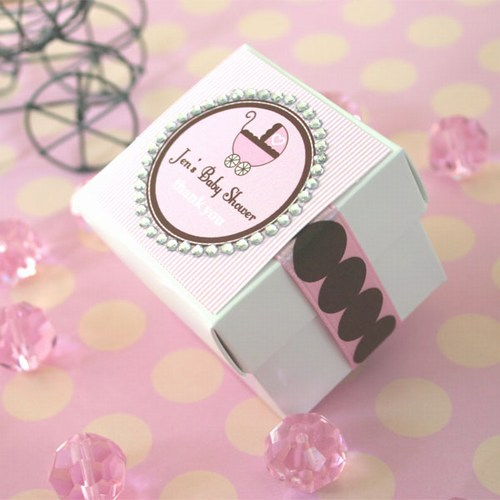 Diamond Border Baby Favor Tags n Labels baby shower favors