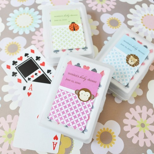 Baby Animal Playing Cards Shower Favors baby shower favors