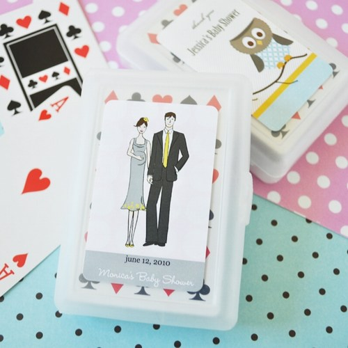 Personalzied Baby Shower Playing Cards baby shower favors