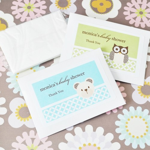 Baby Animal Tissue Packs Shower Favors baby shower favors