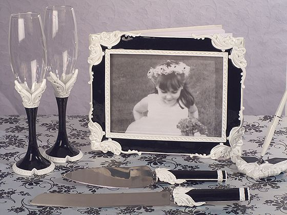 Black And White Collection Wedding Accessories Set144 Weddings