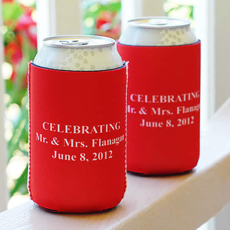 6 Personalized Can Koozie - Personalized Can Holders Weddings