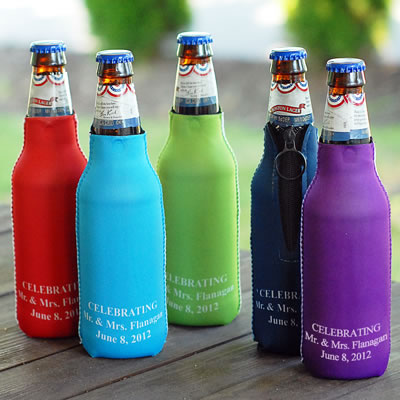 6 Personalized Bottle Holders Weddings