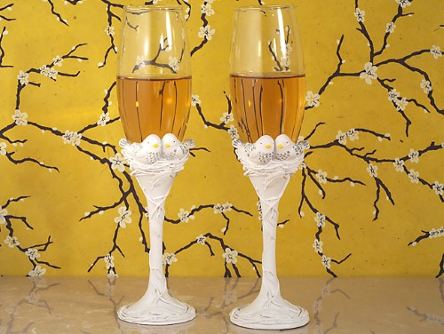 Lovebirds Collection Toasting Flutes200  Weddings