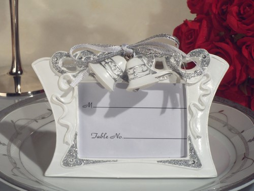 CLEARANCE Wedding Bells Photo Place Card Holder Framewholesale/cc1923.jpg Wedding Supplies