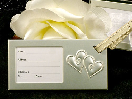 Two Hearts That Beat As One Luggage Tagwholesale/cc4235.jpg Wedding Supplies