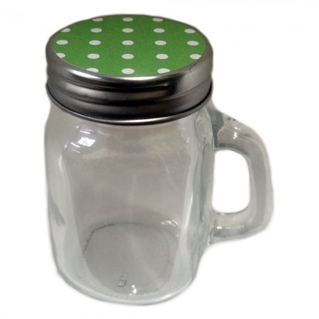 Classic Mason Jar Favor Mint Green Dot Lid 5 Ozwholesale/cc706.jpg Wedding Supplies