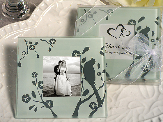 Lovebirds Design Photo Coaster LOW STOCKwholesale/cc832.jpg Wedding Supplies