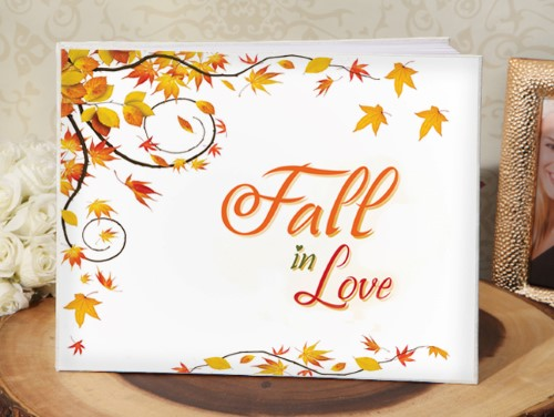 Fall in Love Guest Book  Weddings