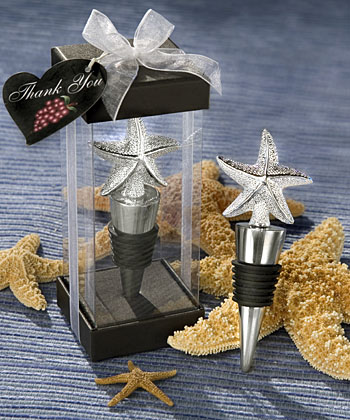 Elegant Starfish Bottle Stopper Favors Weddings