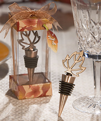 Autumn Themed Wine Bottle Stopper  Weddings