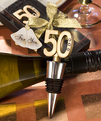 50th Anniversary Wine Bottle Stopper Favorswholesale/favors_2014/1916.jpg Wedding Supplies