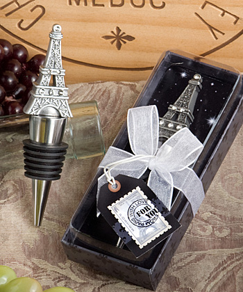 Paris With Love Eiffel Tower Wine Stopper Favors200  Weddings
