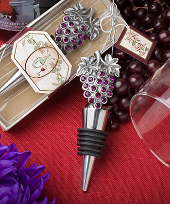 Vineyard Wine Bottle Stopper Favors  Weddings