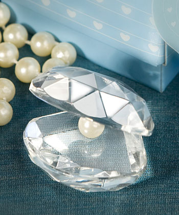 Crystal Clamshell Favors Weddings