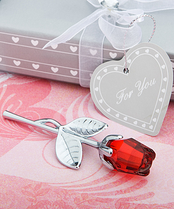 Crystal Red Rose Favors Weddings