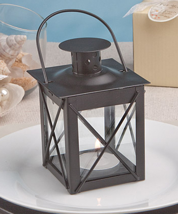 Love Lights The Way Metal Luminous Lanterns (Black) baby shower favors
