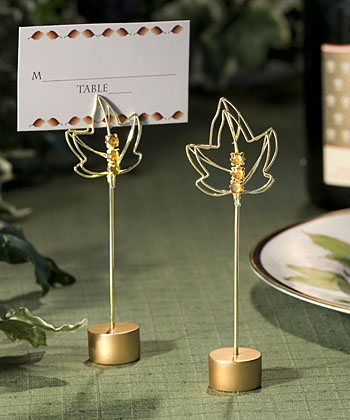Fall Themed Place Card Holders Weddings