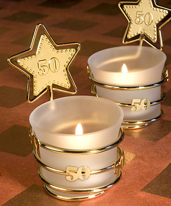 Gold Star 50th Anniversary Celebration Favors  Weddings