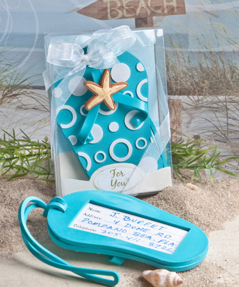 Flip Flop Luggage Tag Favors Weddings