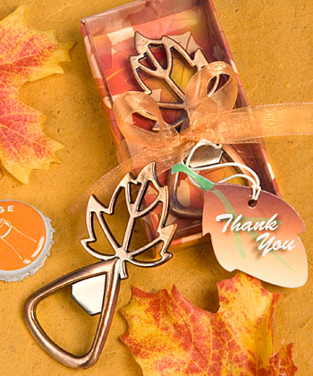Autumn Magic Leaf Bottle Openers200  Weddings