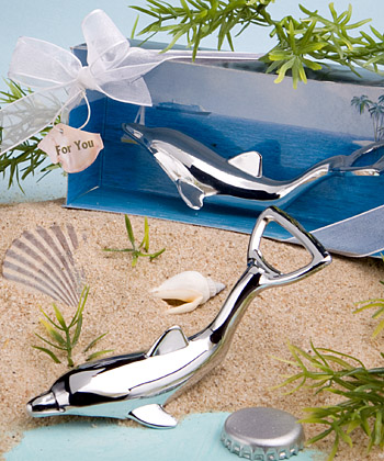 Dolphin Bottle Openers In Diorama Box Weddings
