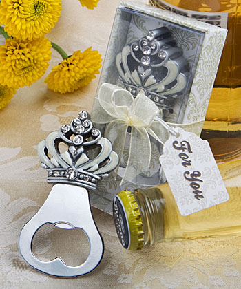 Crown Bottle Opener Favors Weddings