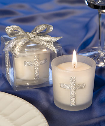 Silver Cross Themed Candle Favorswholesale/favors_2014/5406.jpg Wedding Supplies