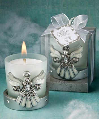 Regal Favor Angel Themed Candle Holders  Weddings