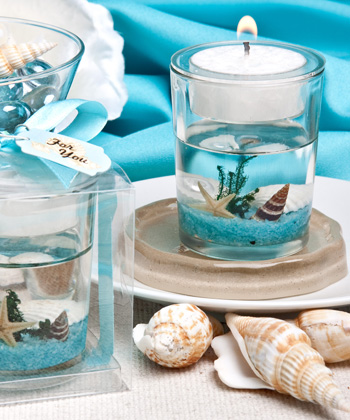 Stunning Beach-themed Candle Favor200  Weddings