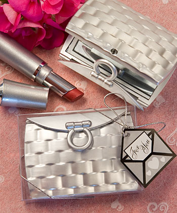 Pocketbook-Elegant Mirror Compact Favors  Weddings