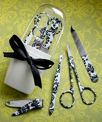 Pretty Damask Manicure Sets200  Weddings