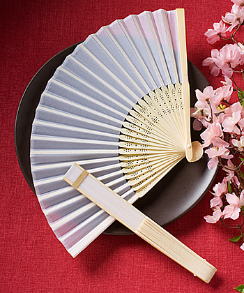 Elegant Silk Fans Favors200  Weddings