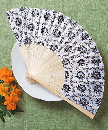 CLEARANCE Elegant Silk Fan With Damask Design200  Weddings