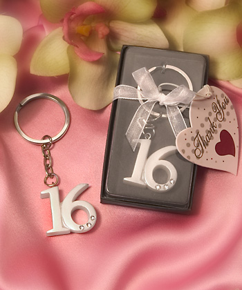 Sweet 16 Key Rings200  Weddings