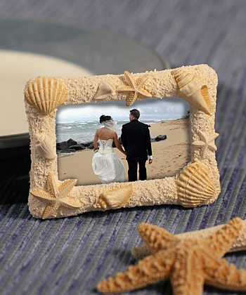 Beach-Themed Photo Frames Weddings