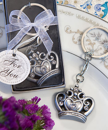 Royal Favors Crown Key Ring Favors200  Weddings