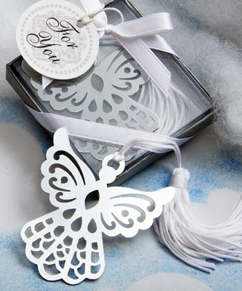 Book Lovers Angel Bookmark Favors baby shower favors