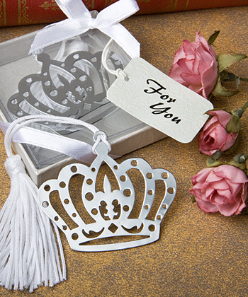 Crown Bookmark Favors200  Weddings