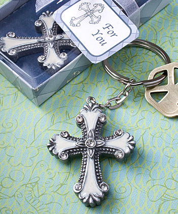 Cross Keychain Favors baby shower favors