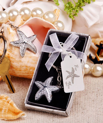 Brilliant Starfish Key Chain Weddings