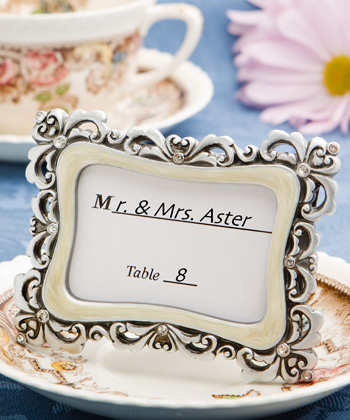 Clearance Flourish Place Card Photo Frames Weddings