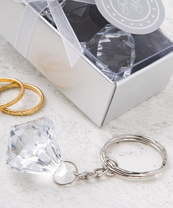 Clear Diamond Key Chain200  Weddings